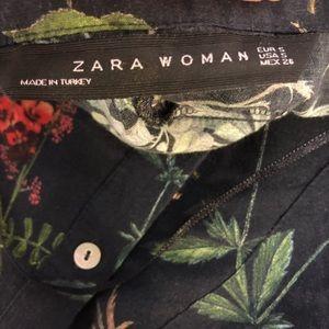 Zara Tops - Zara black floral blouse